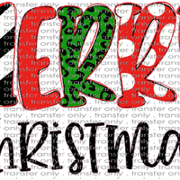 CHR 275 Merry Christmas Hand Drawn Letters