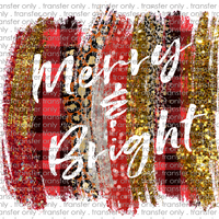 CHR 303 Merry Bright Red Buffalo Leopard and Gold Glitter