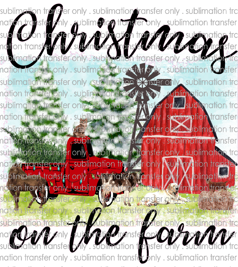 CHR 390 Christmas on the farm barn