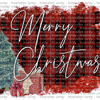 CHR 43 Tree Buffalo Plaid Frame Christmas