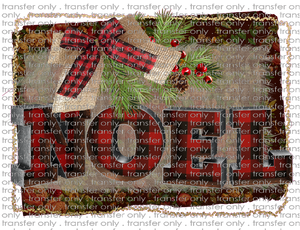 CHR 99 Noel Buffalo Plaid and Burlap