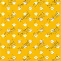 Dog Puppy Paw Prints Yellow