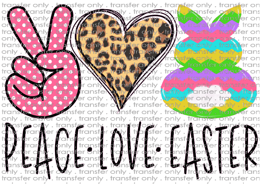 EST 48 Peace Love Easter Pink