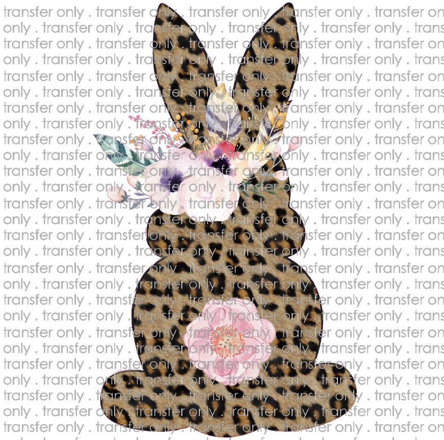EST 87 leopard bunny with flowers