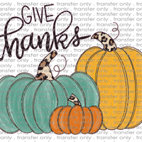 FALL 133 Give Thanks Teal Orange Mustard Pumpkin