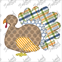 FALL 173 Fall Faux Plaid Turkey