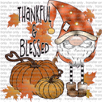 FALL 209 Gnome Thankful and Blessed Pumpkin and Leaves