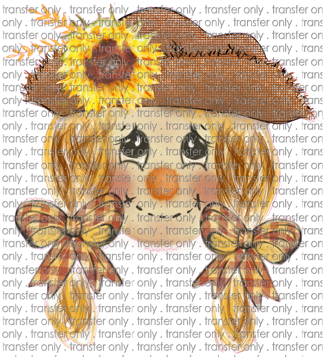 FALL 256 Scarecrow Girl Hand Drawn