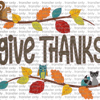 FALL 269 Give Thanks Woodland Animals