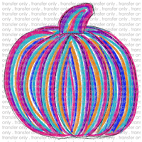 FALL 39 Painted Pumpkin Pink and Teal