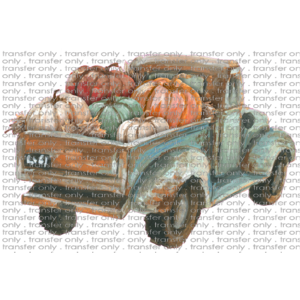 FALL 69 Vintage Truck with Pumpkins