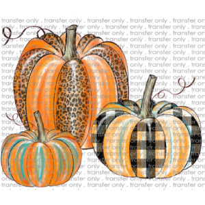 FALL 94 Pumpkin Trio Plaid and Leopard