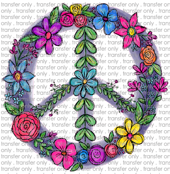 FLW 6 Colorful Floral Peace Sign
