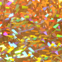 Holographic HTV Gold Crystal Sheet