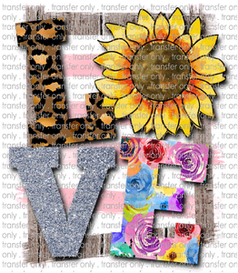 LOV 9 Love Sunflower, Leopard and Background