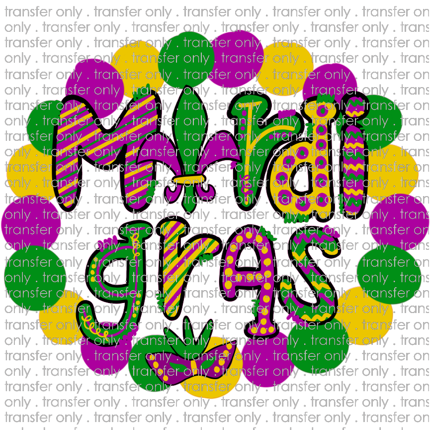 MG 15 Mardi Gras Bead Wreath