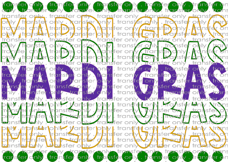 MG 19 Mardi Gras Word Stack