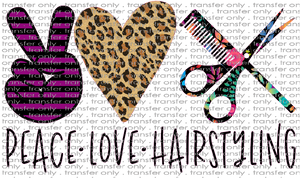 PEACE 19 Peace Love Hairstyling Black Floral
