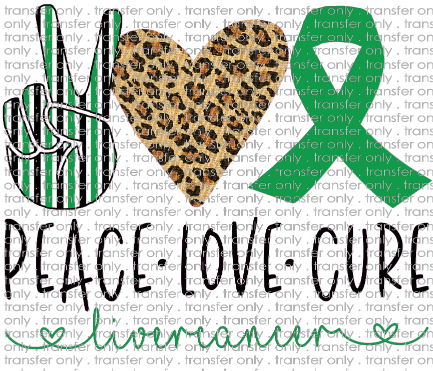 PEACE 57 Peace Love Cure Liver Cancer