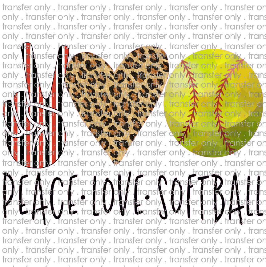 PEACE 77 peace love softball