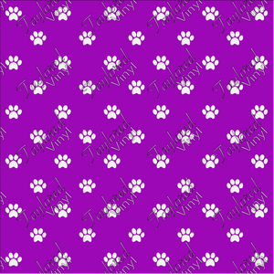 Dog Puppy Paw Prints Purple 02