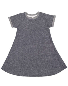 Harborside French Terry Twirl Dress Youth Navy Melange
