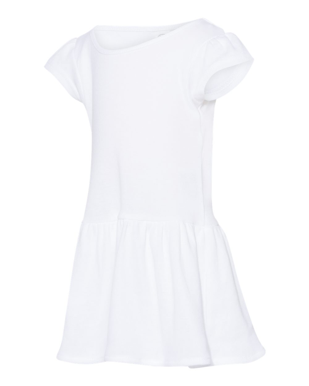 Rabbit Skin Infant Rib Dress 5320 White