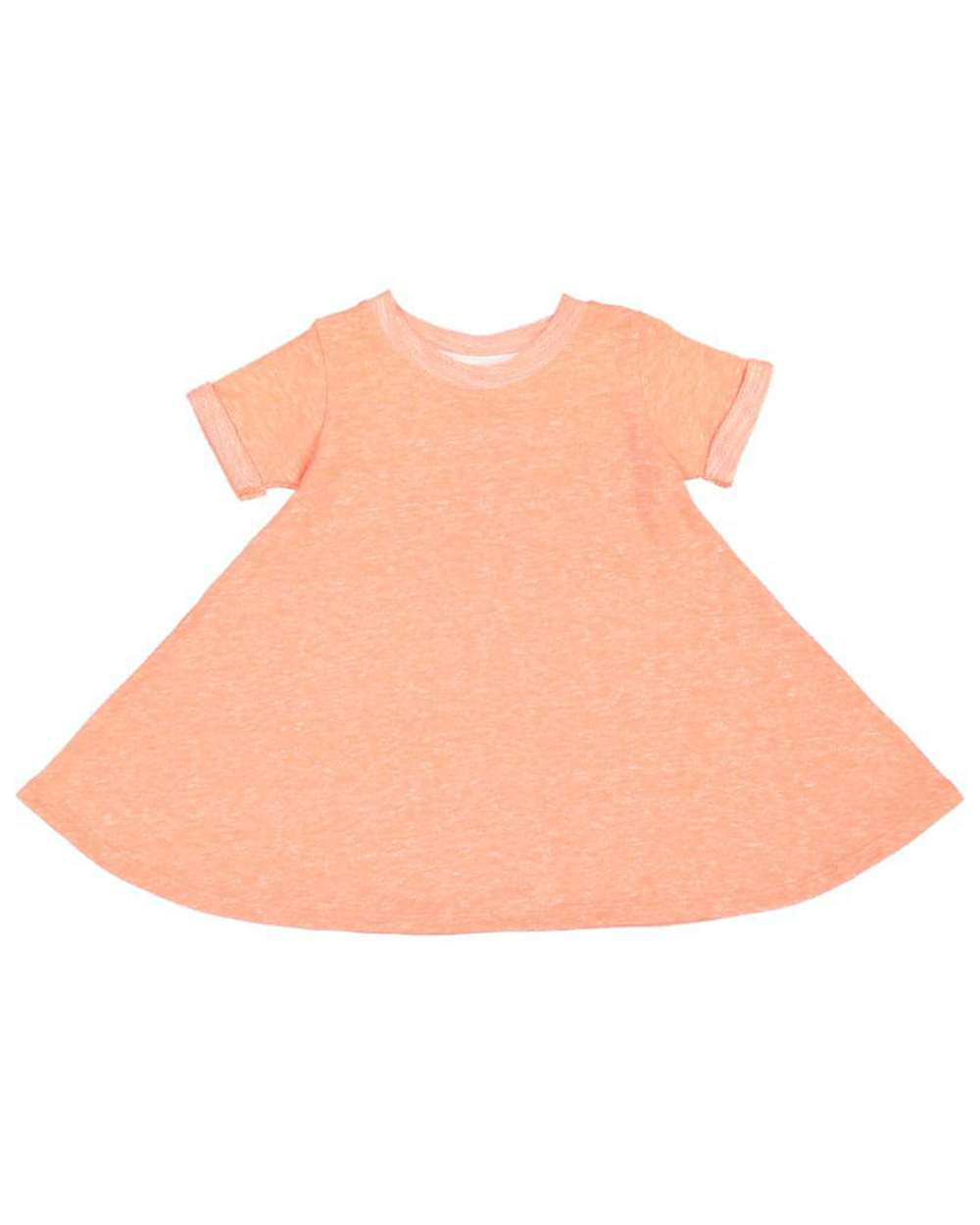 Harborside French Terry Twirl Dress Toddler Papaya Melange