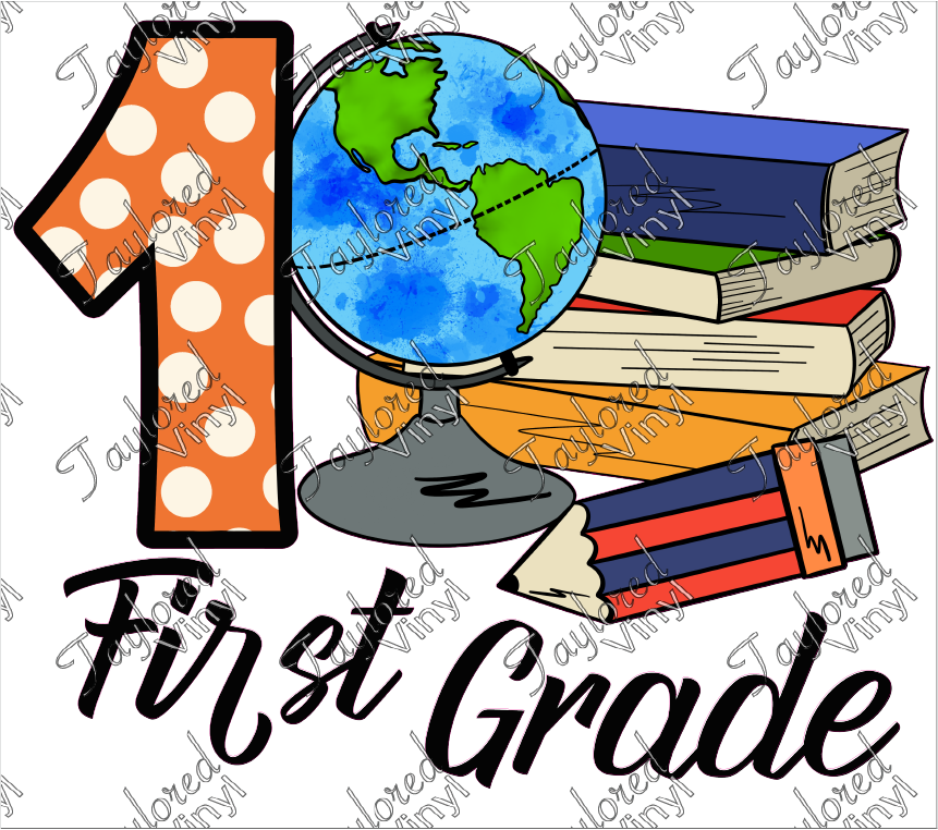 SCH 278 First Grade Globe and Books