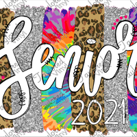 SCH 300 Senior Tie Dye and Leopard Stripes