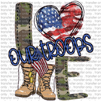 USA 71 love our troops camo heart