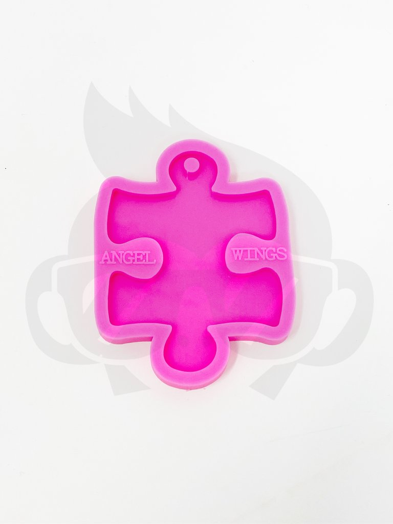 Silicone Mold Puzzle Pieces Keychain