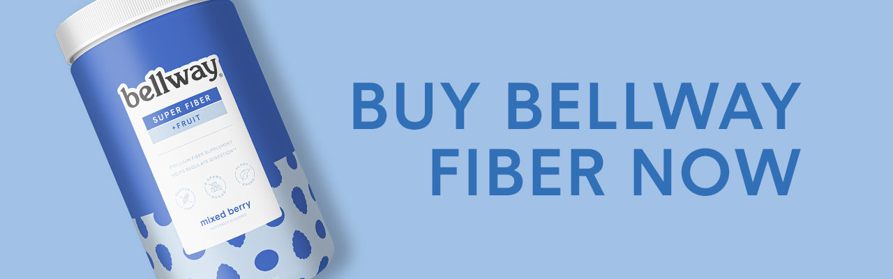 "Tub of Bellway Super Fiber in Mixed Berry with caption ""Buy Bellway Fiber Now"""