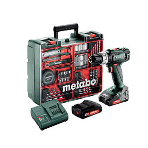 Metabo Cordless Impact Drill Driver 18V Set (SB 18 L Set) including 2x Batteries & charger)