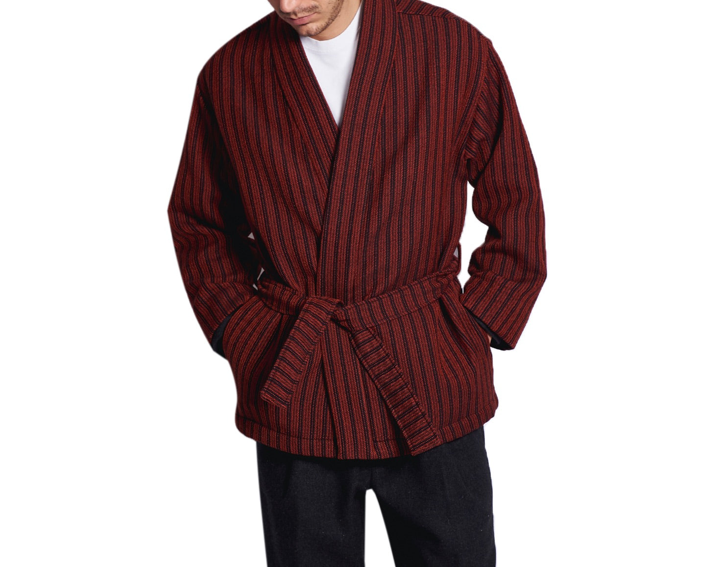 MEN'S KIMO-JACKET BORDEAUX&BLACK