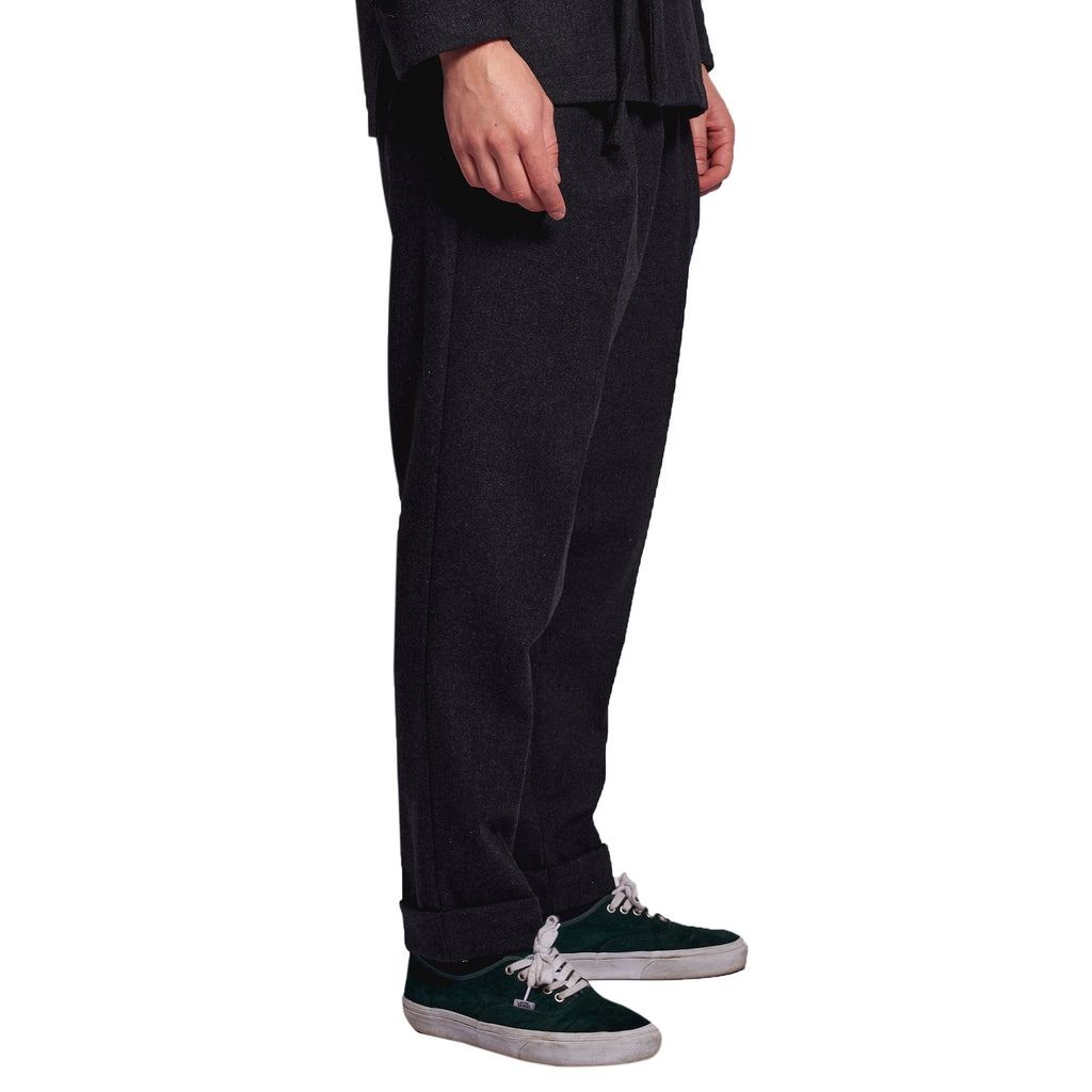 MEN'S TROUSERS FISHBONE GREY
