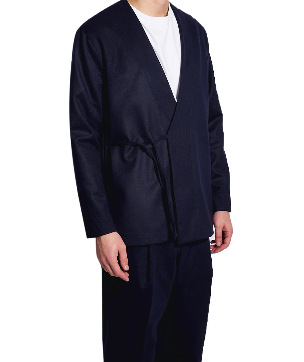 MEN'S KIMO-SHIRT DARK BLUE