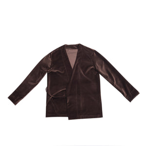 WOMEN'S KIMO-SHIRT BROWN VELVET