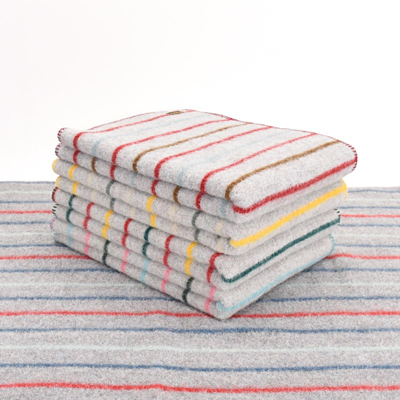 Tweedmill Textiles Recycled Random Wool/Random Stripe Dog Blanket