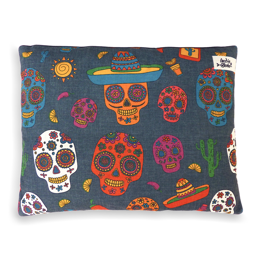 Indie Boho - Mexican Skulls Pet Bed