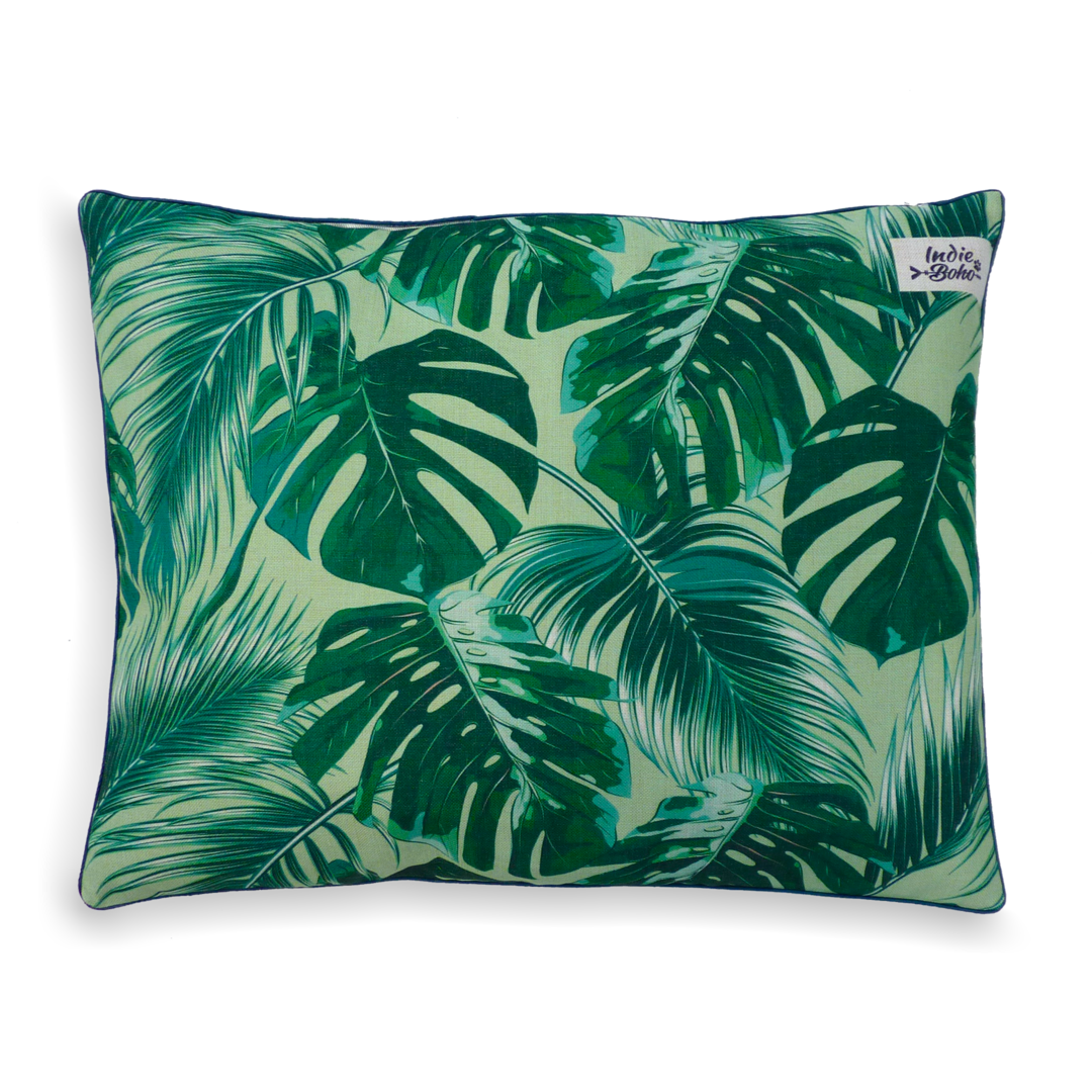 Indie Boho - Tropical Leaves Pet Bed