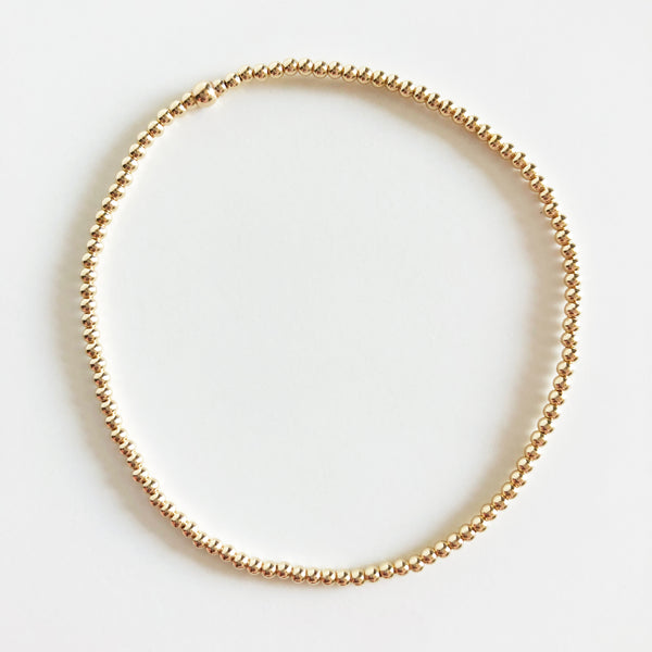 2mm Classic Beaded 14K Gold-Filled Bracelet
