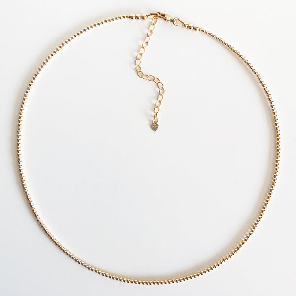 2mm Beaded 14K Gold-Filled Necklace with Extender