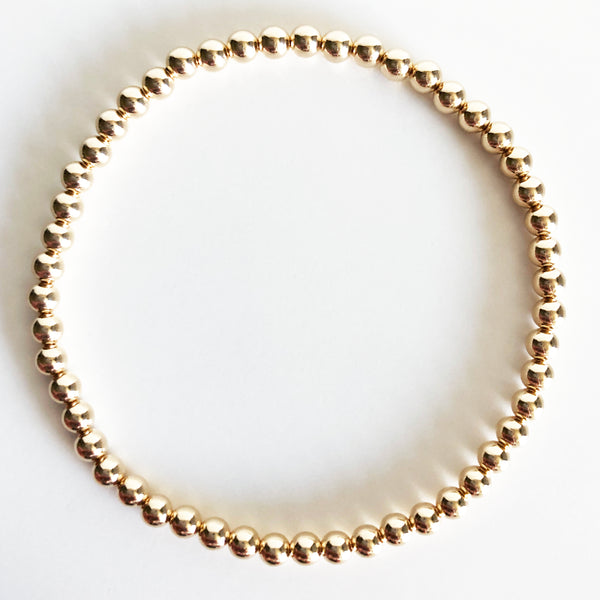 4mm Classic Beaded 14K Gold-Filled Bracelet