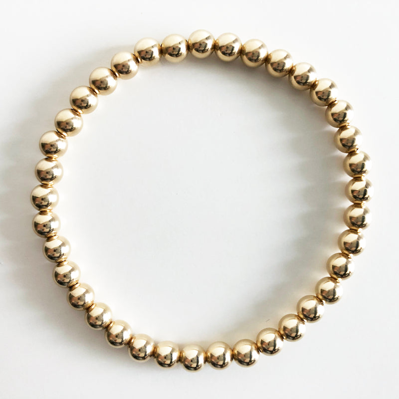 5mm Classic Beaded 14K Gold-Filled Bracelet
