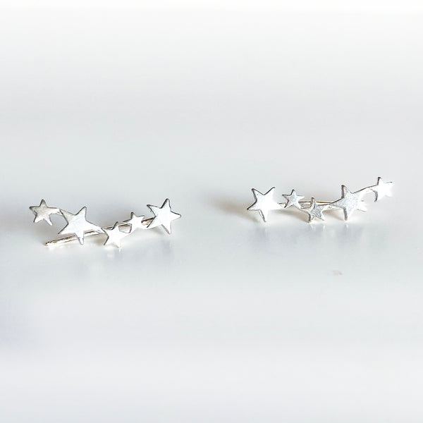 Sterling Silver multi star ear climber