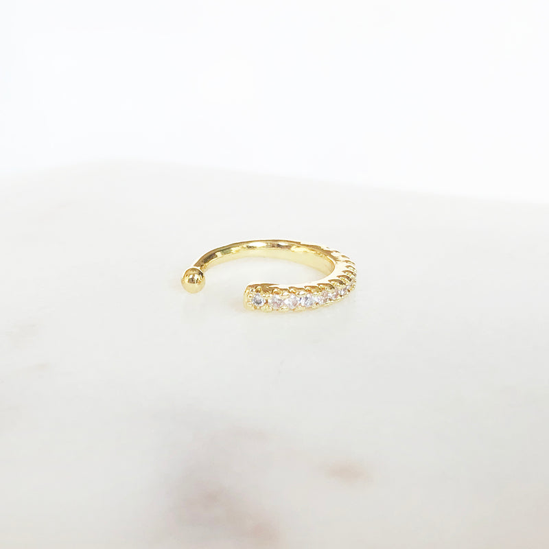 14K Gold-Filled ear cuff with CZ