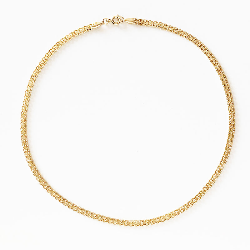 14k gold-filled multi-layer thick chain necklace