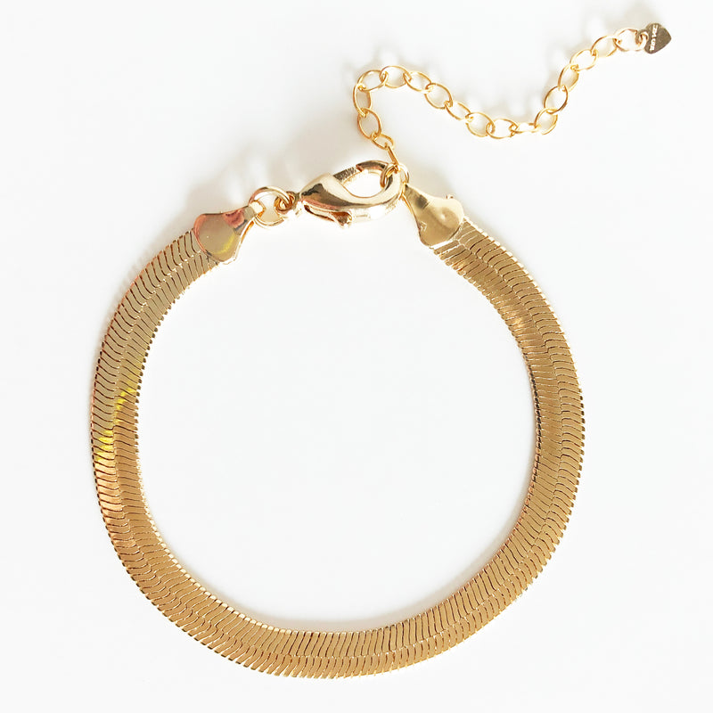 14k gold-filled 6mm snake chain bracelet with extender