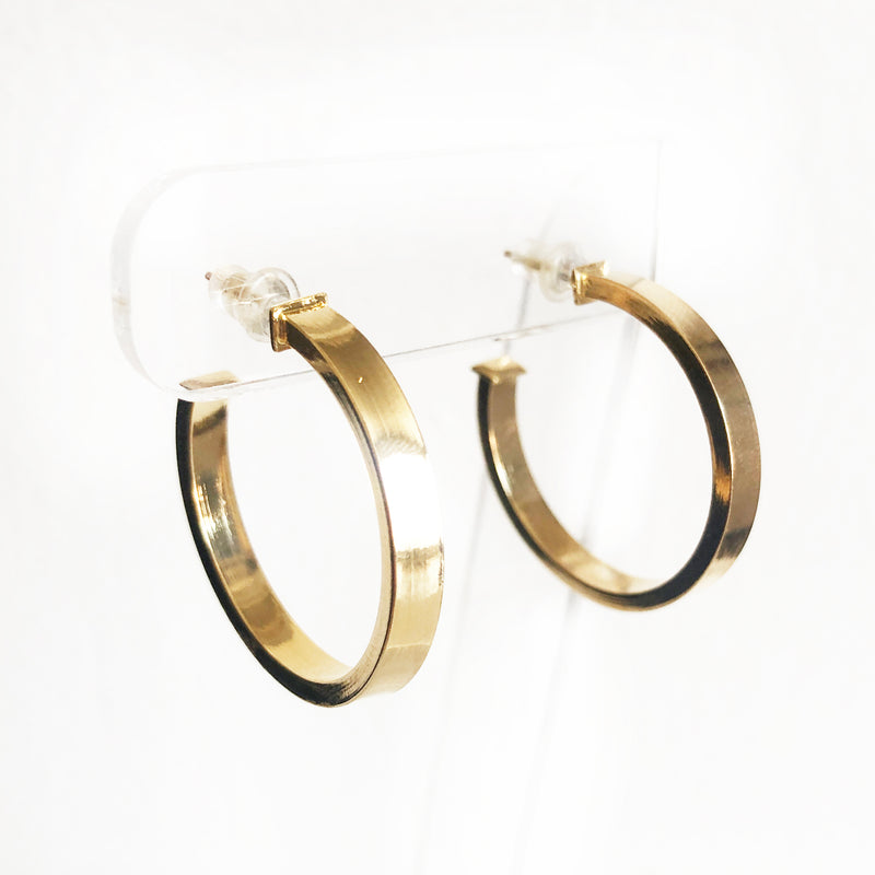 Oracle gold chunky hoops earrings